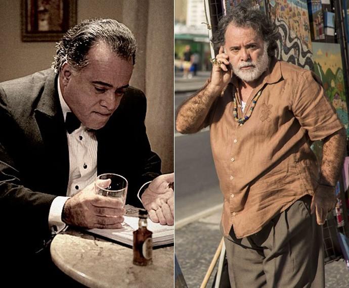 Tony Ramos em O Rebu e, agora, em A Regra do Jogo (Foto: Pedro Curi/Gshow /  Inácio Moraes/ Gshow)