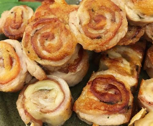 Espetinho de Porco com Emulsão de Batata (ou Musseline de Batata)