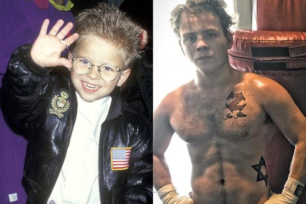Jonathan Lipnicki em 1996 e atualmente (Foto: Divulgação)