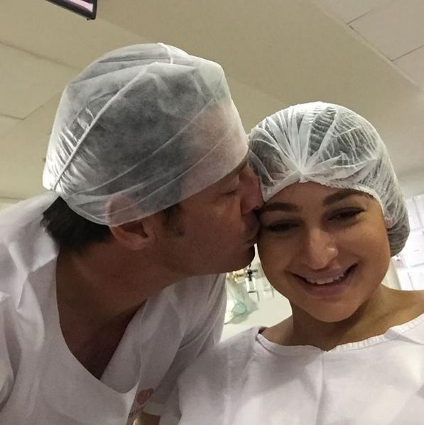 Théo Becker e a mulher, Raphaela (Foto: Reprodução / Instagram)