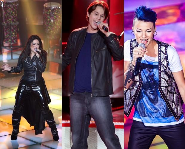 Cantores falam sobre relação com o rock 'n' roll (Foto: The Voice Brasil/TV Globo)