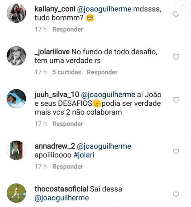 Thomaz Costa manda recado para João Guilherme, também ex de Larissa Manoela (Foto: Reprodução/Instagram)