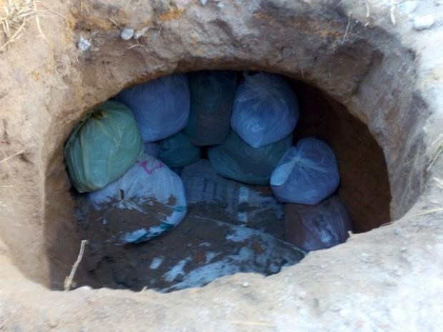 Túnel de 1 metro de profundidade foi fechado no Presídio Frei Damião de Bozzano (Foto: Divulgação / Seres)