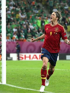 Fernando Torres, Espanha x Irlanda (Foto: Agência Getty Images)