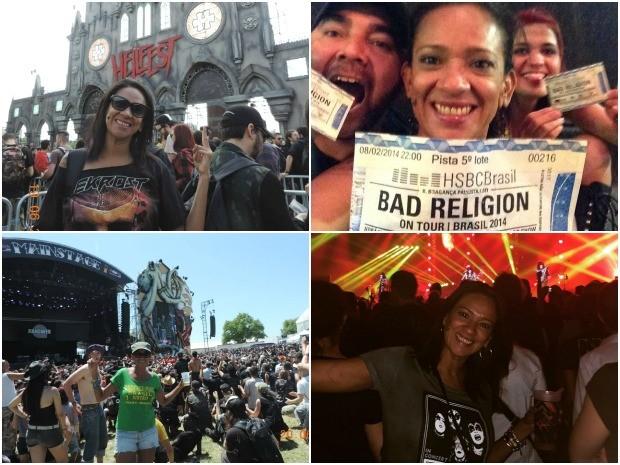 Contadora viaja para assistir shows de rock desde 2009 (Foto: Arquivo Pessoal)