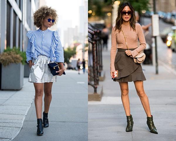 As botas podem continuar no closet durante o verão quando usadas com saias (Foto: Imaxtree)