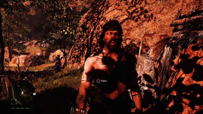 Far Cry Primal: personagem Karoosh foi inspirado em Big Boss de MGSV (Foto: Reprodução/Victor Teixeira)