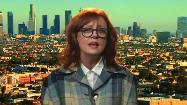 Em entrevista ao programa 'Newsnight', da BBC, a atriz afirmou que os EUA estão em uma situação difícil porque as pessoas há muito tempo votam no 'menor dos males' (Foto: BBC)