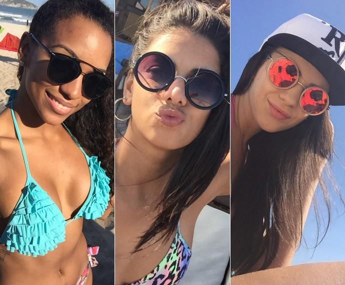 Camila Lobo, Tainá Grando e Gabrielle Cardoso posam para foto (Foto: Arquivo Pessoal)