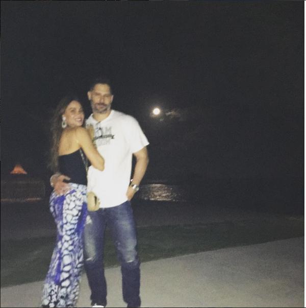 A atriz Sofia Vergara e o marido, o ator Joe Manganiello (Foto: Instagram)
