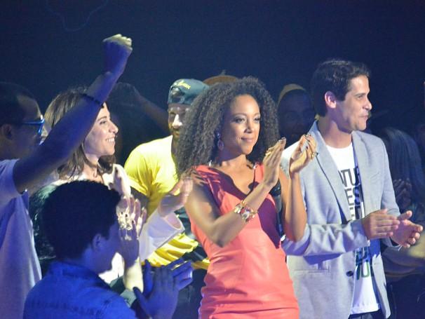 Negra lee cantou Tempos Modernos no Mobilize, evento da área de Responsabilidade Social da Globo (Foto: Alexandre Horta / Globo)