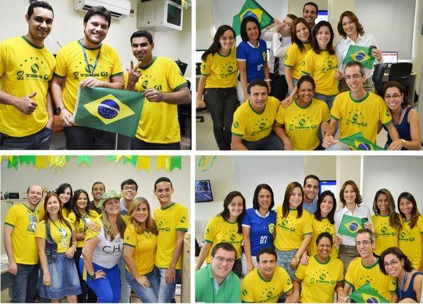 Torcida da TV Sergipe para o jogo da seleção nesta sexta-feira (Foto: Divulgação / TV Sergipe)
