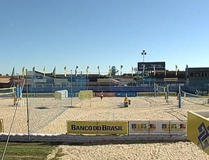 Parque Fernando Costa já foi palco do Circuito Brasileiro de Vôlei de Areia (Foto: Reprodução/TV Integração)