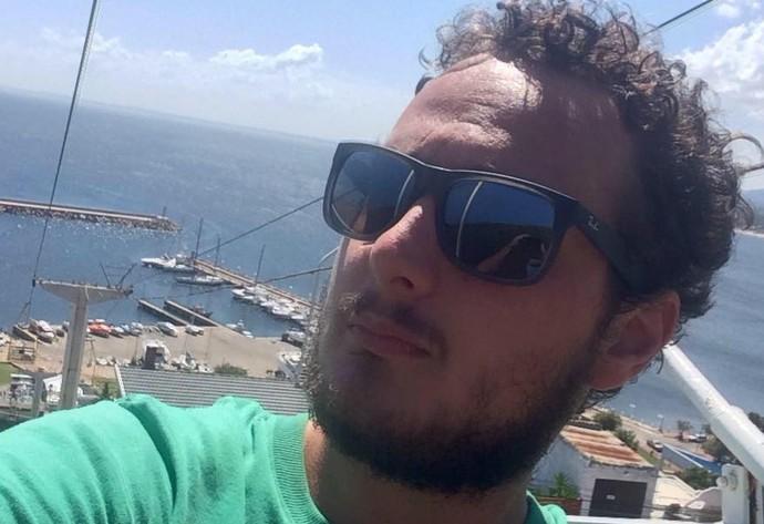 Laion Espíndola, repórter globoesporte.com (Foto: Reprodução)