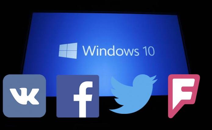 Windows 10 tem apps de várias redes sociais que se ficam no Menu Iniciar (Foto: Reprodução/TechTudo)