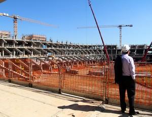 Arena está 70% concluída no bairro Humaitá (Foto: Lucas Uebel/Divulgação, Grêmio)