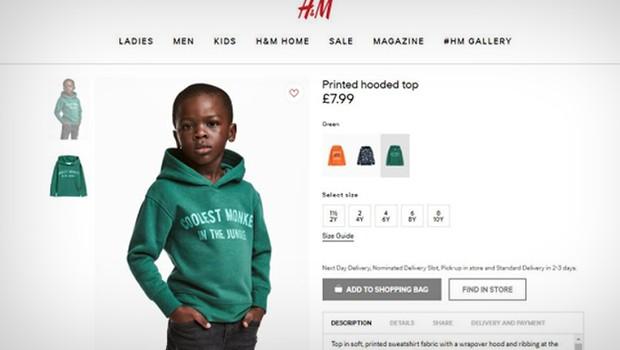 Propaganda polêmica da H&M (Foto: Reprodução)