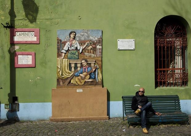 """O Caminito é uma rua de pedestres onde a arte está presente em todos os cantos. A ruela inspirou o famoso tango """"Caminito"""", criado em 1926 (Foto: © Haroldo Castro / ÉPOCA)"""