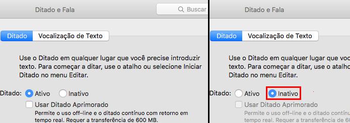 Desativando o recurso Ditado no Mac (Foto: Reprodução/Edivaldo Brito)