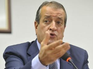 O deputado Valdemar Costa Neto (PR-SP), durante entrevista na Câmara (Foto: José Cruz  / Agência Brasil)