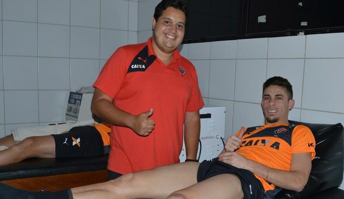 Gabriel Paulista se recupera de lesão na Toca do Leão (Foto: Francisco Galvão / Divulgação / E.C. Vitória)