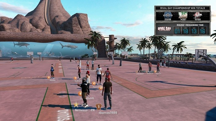 Streetball online em 2K16 está ainda mais legal (Foto: Reprodução/Thiago Barros)