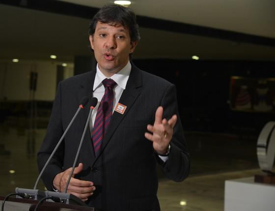 O prefeito de São Paulo, Fernando Haddad (PT) (Foto: Valter Campanato/ABr)