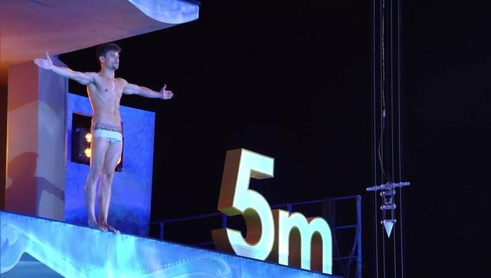 Raphael Sander teve beleza elogiada, mas acabou eliminado do 'Saltibum' (Foto: TV Globo)