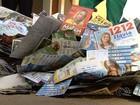 Moradores reclamam do lixo deixado nas ruas após as eleições em Goiás