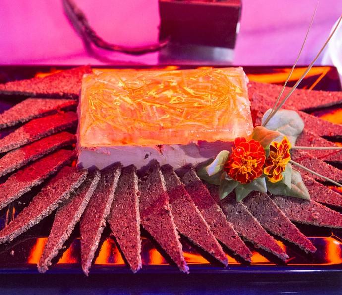 Patê de foie gras com confit de laranja (Foto: Fábio Rocha/Gshow)