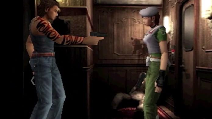 Resident Evil 0 ainda em sua fase de protótipo para o Nintendo 64 (Foto: Reprodução/YouTube)