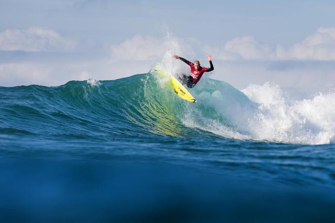 Mick Fanning na estreia da sexta etapa do circuito mundial de surfe em jeffreys bay Africa do Sul (Foto: WSL / KC)