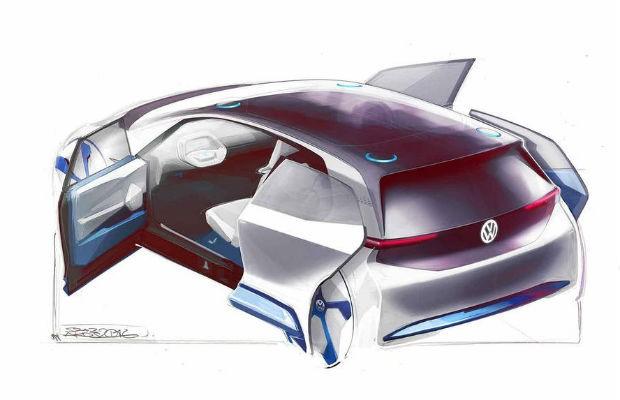 Rascunho do conceito elétrico da Volkswagen (Foto: Divulgação)