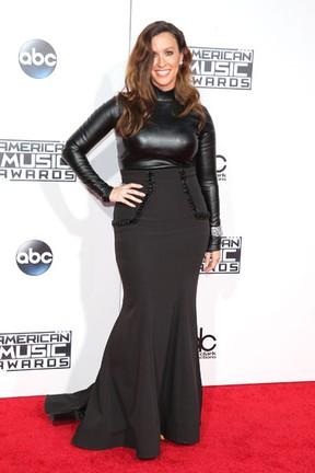 Alanis Morissette em prêmio de música em Los Angeles, nos Estados Unidos (Foto: Mark Davis/ Getty Images/ AFP)