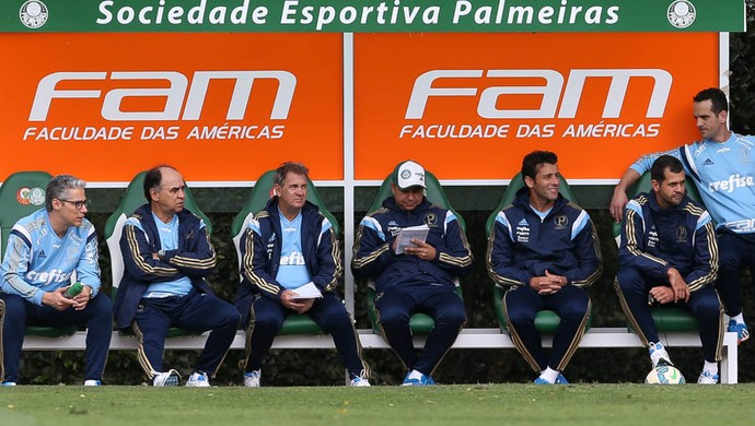Comissão técnica Palmeiras (Foto: Cesar Greco/Ag Palmeiras/Divulgação)