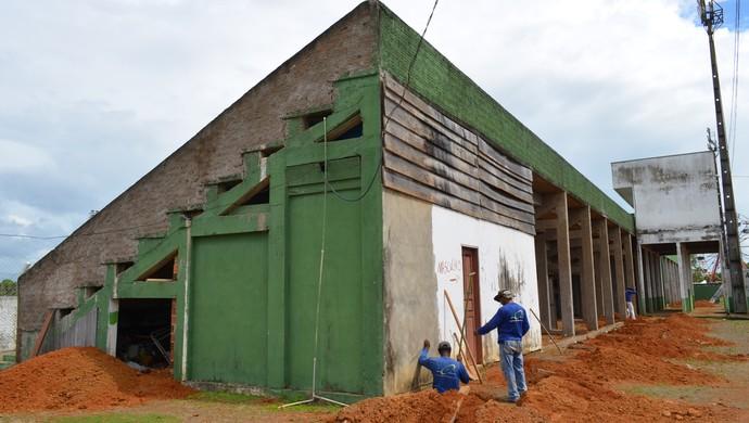 Valerião começa a ter estrutura reformada (Foto: Franciele do Vale)