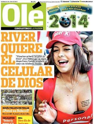 Larissa Riquelme capa Olé  (Foto: Reprodução / Olé.ar)