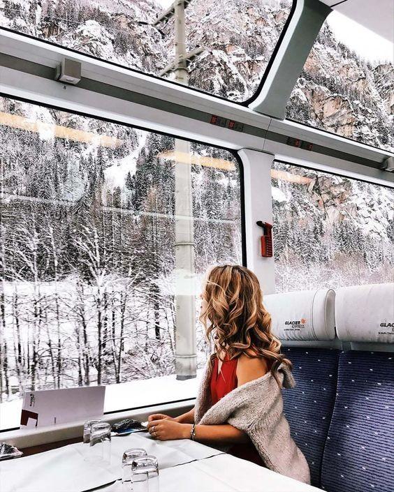 Que tal fazer uma viagem de trem nas suas próximas férias? (Foto: Reprodução / Pinterest)