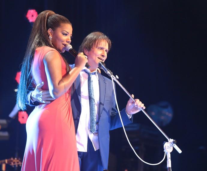 A funkeira Ludmilla também participou do Especial ao lado do Rei (Foto: Globo/ Paulo Belote)
