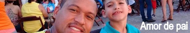 Pai abandona emprego para cuidar de filho com paralisia cerebral em escola (Foto: Reprodução)