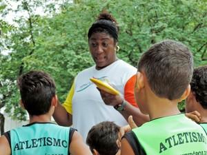 Elisângela Adriano, atletismo, Presidente Prudente (Foto: Murilo Rincon / GloboEsporte.com)