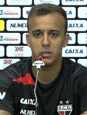Matheus Carvalho - atacante do Atlético-GO (Foto: Reprodução / TV Anhanguera)