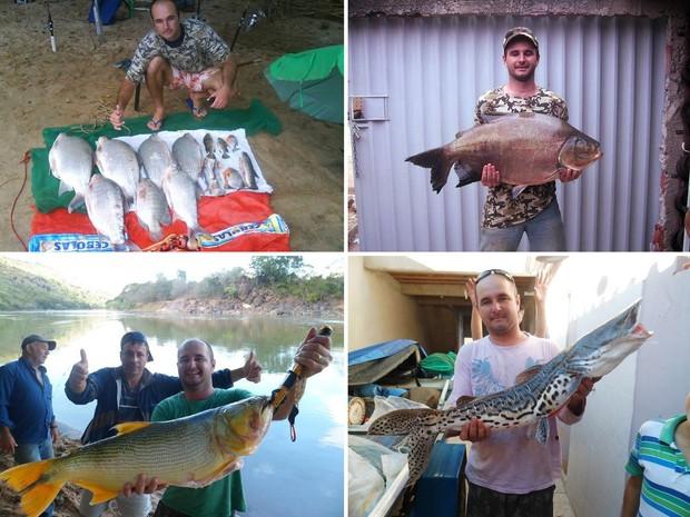Fotos de arquivo mostram Rodrigo Nunes com diversos peixes (Foto: Rodrigo Nunes Freire/Arquivo Pessoal)
