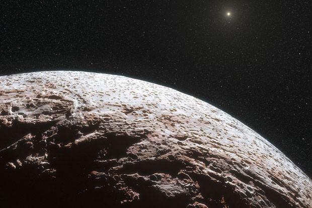 Concepção artística do planeta-anão Makemak (Foto: ESO/L. Calçada/Nick Risinger)