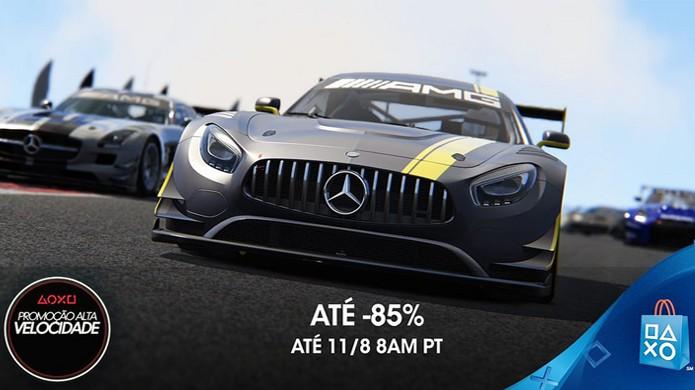 Promoção Alta Velocidade da PSN exclusiva para América Latina traz descontos de até 85% em jogos de corrida (Foto: Reprodução/PlayStaiton Blog)