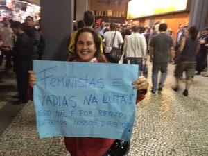 Contra o conservadorismo político. (Foto: Luís Bulcão/G1)