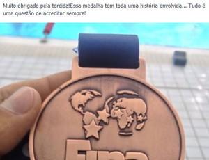 Frederico Castro - bronze - Copa do Mundo Dubai (Foto: Reprodução/Facebook)