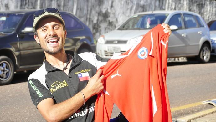 Cristian está confiante no desempenho da seleção chilena na Copa do Mundo (Foto: Christian Guimarães)