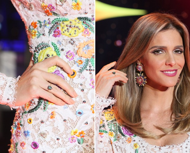 Fê Lima e seus anéis (Foto: Isabella Pinheiro/Gshow)