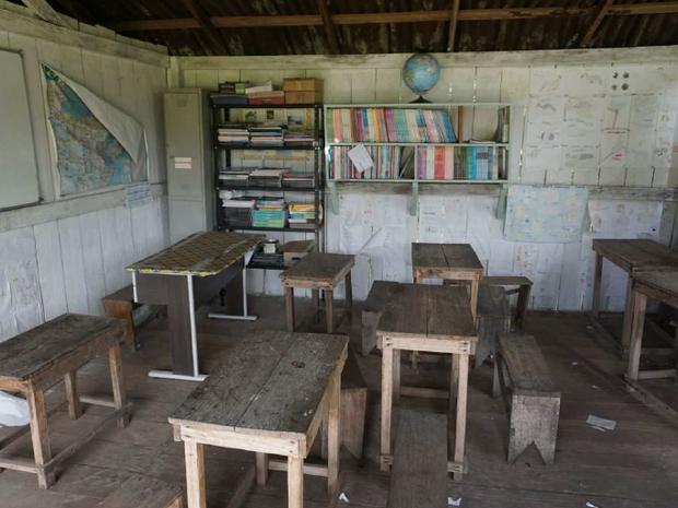 amapá, macapá, escola, índios, indígenas, sala de madeira, interior (Foto: Divulgação/MPF)
